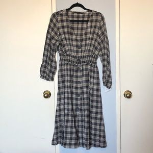 NEW w/ TAGS ZARA Checkered Button Down Dress